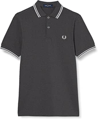 Fred Perry Twin Tripped Shirt Camisa de Tenis para Hombre