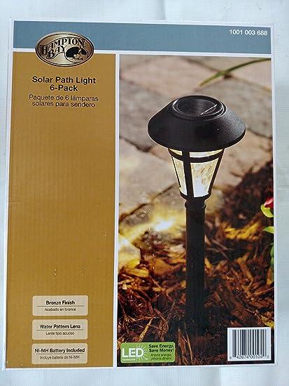 Amazon.com: Hampton Bay nxt-1903p-6pk LED Solar Camino luces ...