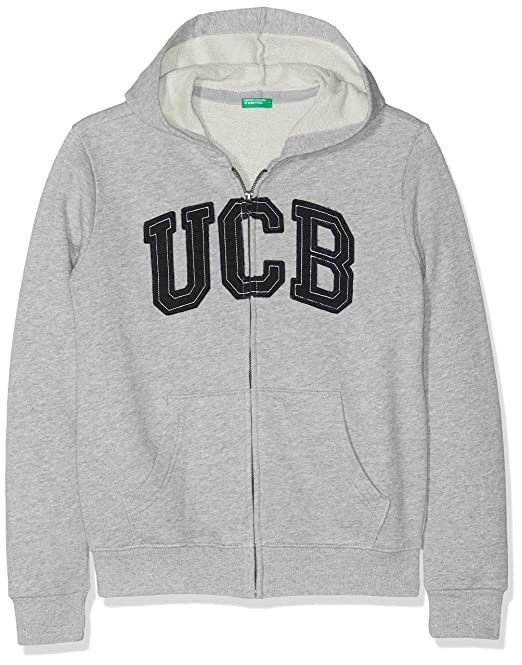 United Colors of Benetton Jacket W/Hood L/s, Chaqueta Niños, Gris