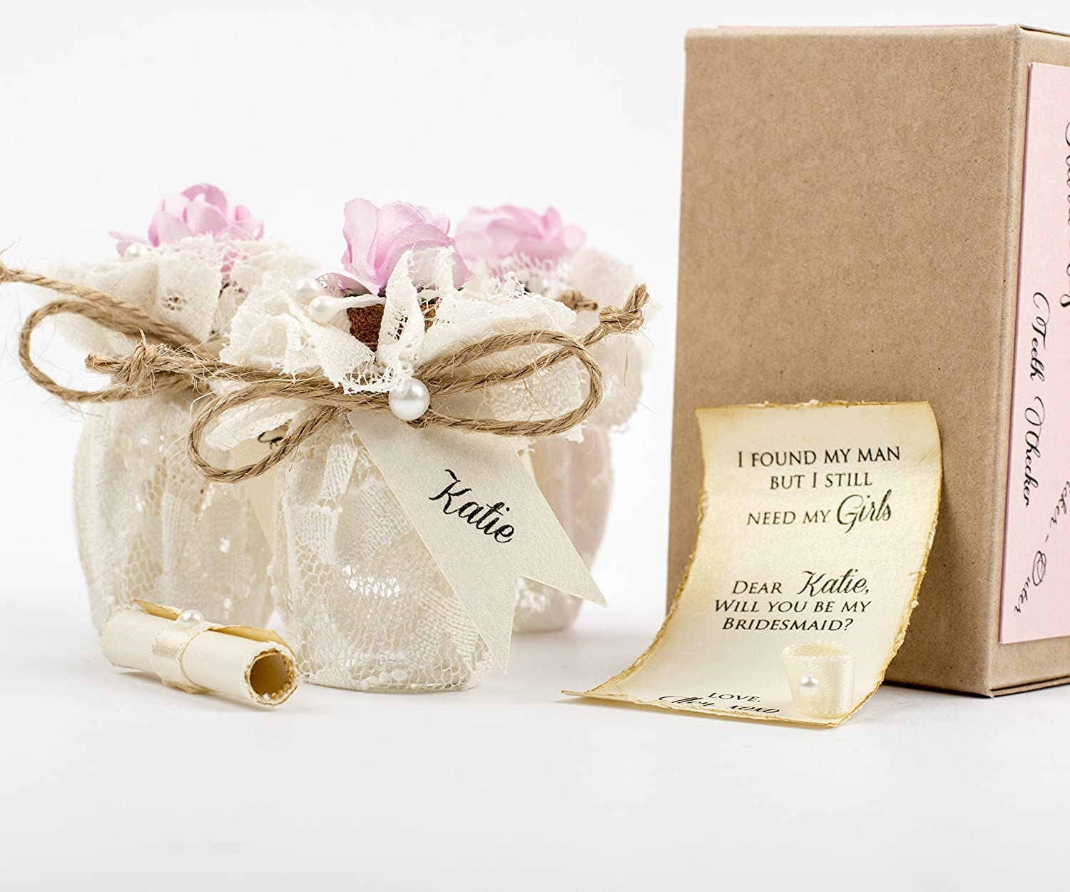 Amazon.com: Will you be My Bridesmaid Gift Message in a Bottle ...