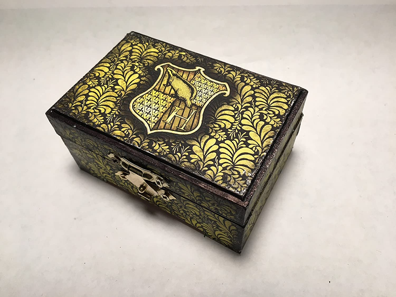 Harry Potter Hufflepuff Hogwarts Inspired Proposal Engagement Ring Box Ring Bearer Pillow Box Customizable