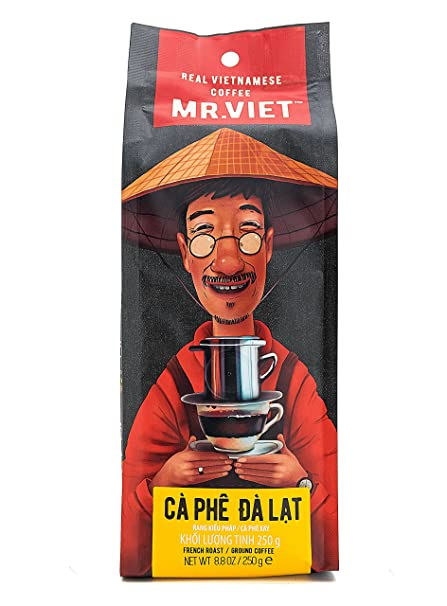 Mr Viet Ca Phe Dalat - Mezcla Fresca de Auténtico Café Vietnamita Tostado Molido, Adecuada
