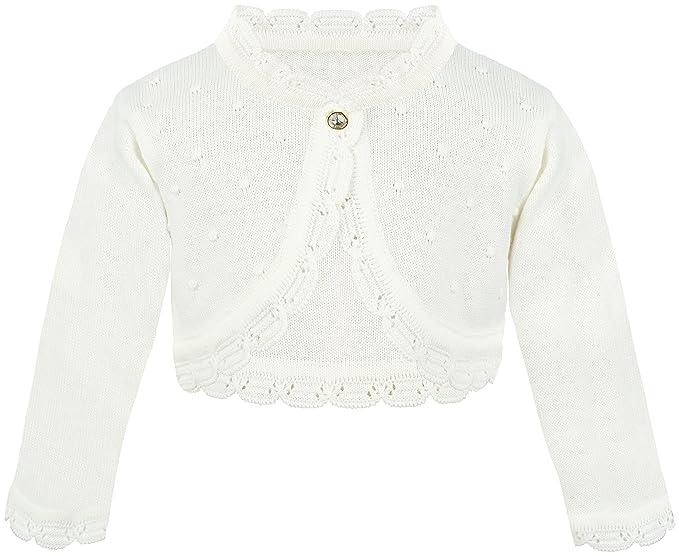 bc2e5397497b Amazon.com  Lilax Baby Girls  Knit Long Sleeve Bolero Cardigan Shrug ...