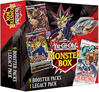 Yu-Gi-Oh! Trading Cards Spring Monster Mystery Box- 9 Booster Packs | at Least 1 Legacy Pack | Find Legend of Blue-Eyes White Dragon, Multicolor