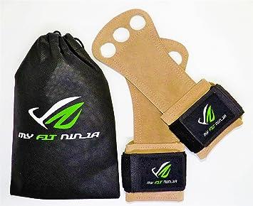 MyFit Ninja piel agarres de mano guantes de entrenamiento de ...
