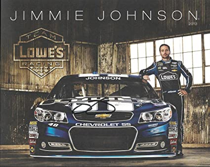 Signed Jimmie Johnson Picture - 2013 Lowes Kobalt Tools 8x10