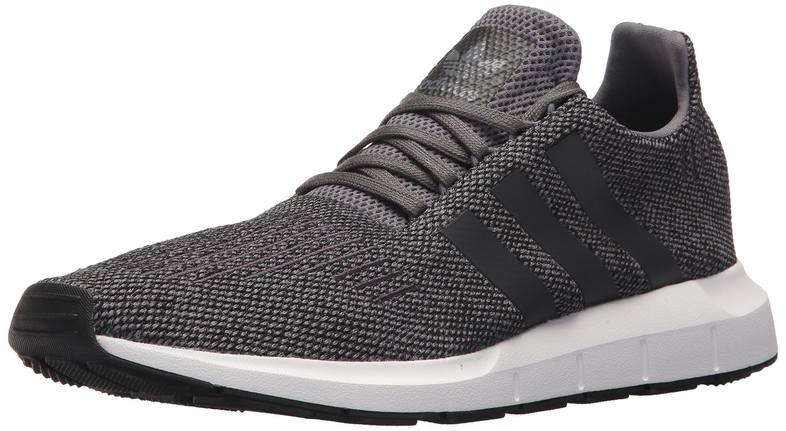adidas Originals Men's Swift Running Shoe, Grey/Black/White, 10 M US