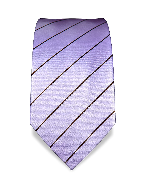 VB – Corbata Lila, diseño de rayas, color marrón: Amazon.es: Ropa ...