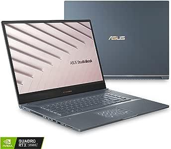 "ASUS ProArt StudioBook Pro 17 Mobile Workstation, 17"" WUXGA NanoEdge Bezel, Intel Core i7-9750H, 16GB DDR4, 1TB PCIe SSD, Quadro RTX 3000, Windows 10 Pro, W700G3T-XH77, Turquoise Gray (Renewed)"