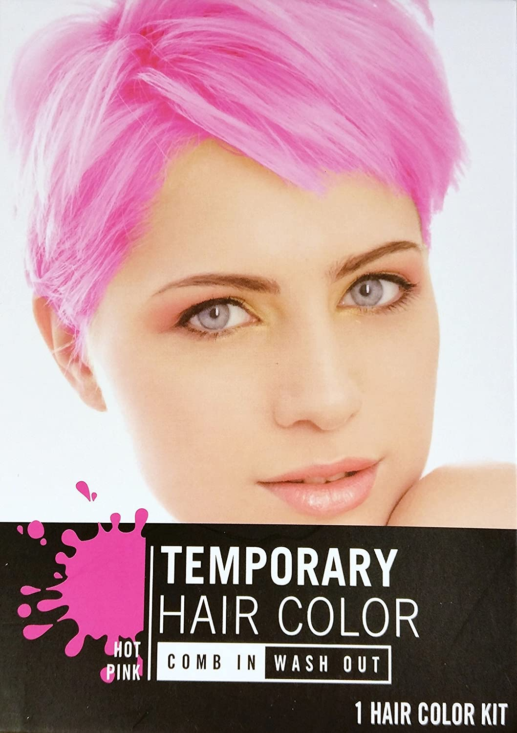 Amazon Temporary Hair Color Dye Hot Pink Cherry Red