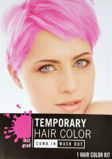 Amazon.com : Temporary Hair Color Dye, Hot Pink, Cherry Red ...