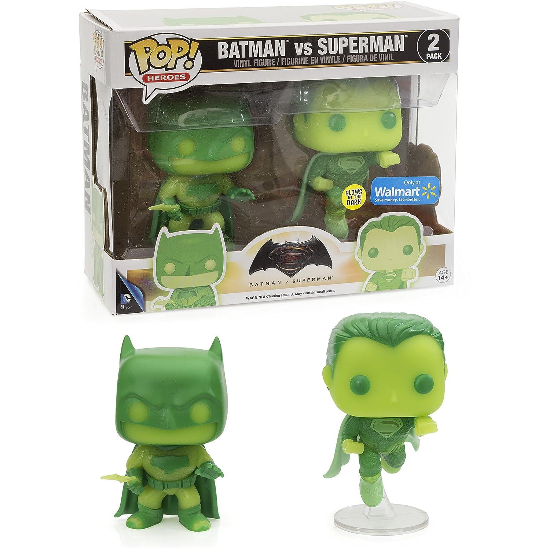 : Funko POP 1 FREE Official DC Trading Card Bundle 65447 Batman /& Superman Walmart Exclusive x Batman v Superman Dawn of Justice Figure BCC9RD84