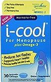 i-cool For Menopause Plus Omega-3, One Per Day, Multi-Symptom Menopause Relief: Genistein, Vitamin E, Biotin, Fish Oil, 30 Count