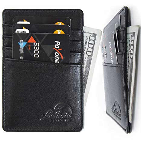 lethnic mens minimalist rfid front pocket slim wallet business card holder wallet safe wallet - Best Card Holder Wallet