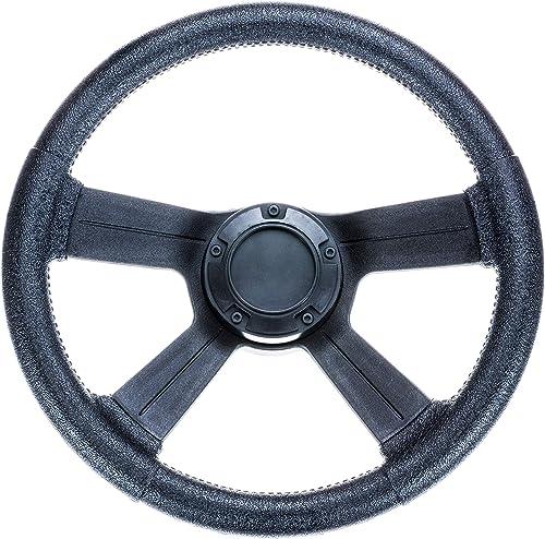 Weatherproof 13-Inch Soft-Grip <span>Boat Marine Steering Wheel</span> with Cap [Attwood] Picture