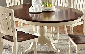 Furniture Of America Pauline Cottage Style Oval Dining Table