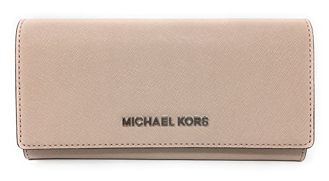 7017fe55535c Michael Kors Jet Set travel Carryall Leather Clutch wallet in Ballet ...
