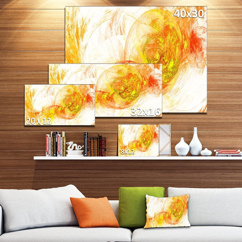 Amazon.com: Designart PT8050-20-12 Colored Smoke Yellow Abstract ...