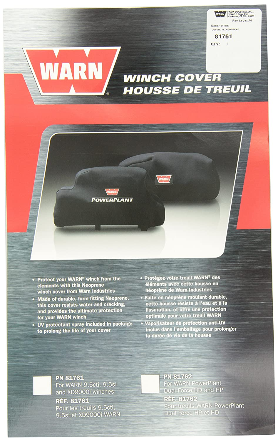 WARN 81761 Neoprene Winch Cover