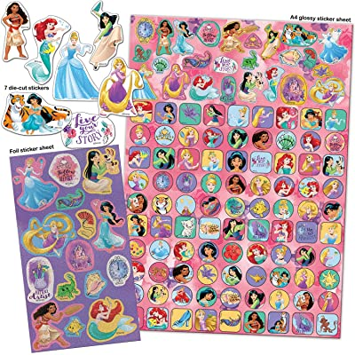 Paper Projects 9124370 Disney Princess Mega Sticker Pack, Pink/Purple: Toys & Games