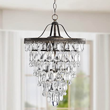 4-light Antique Brass Crystal Chandelier - Amazon.com: 4-light Antique Brass Crystal Chandelier: Home & Kitchen