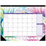 """bloom daily planners 2017-18 Academic Year Desk or Wall Calendar (August 2017 through July 2018) - 16"""" x 21"""" - Peacock"""
