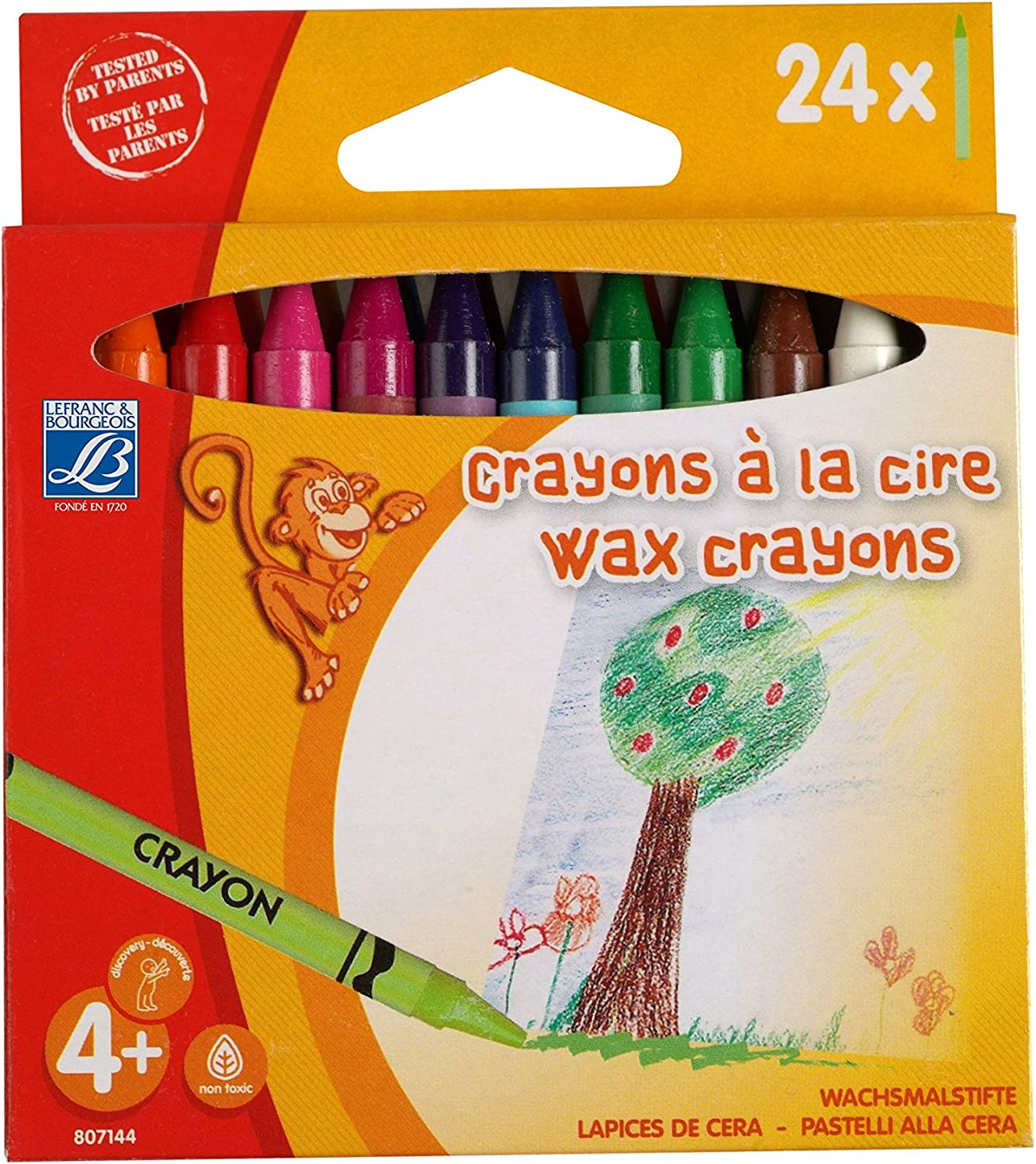 Lefranc Bourgeois Set of 16 Wax Pencils 8 mm