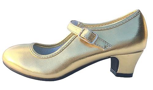vendite calde 64f6e 1d92b La Senorita Flamenco Scarpe Principessa Scarpe Ballerine con Tacco Oro
