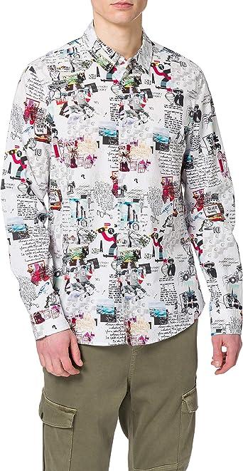 Desigual CAM_Abelardo Camiseta para Hombre: Amazon.es: Ropa y ...
