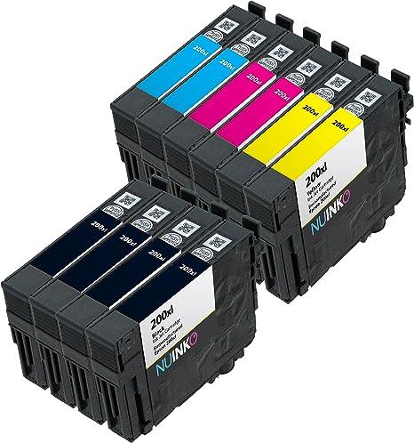 NUINKO 10 Pack REMANUFACTURADO Epson 200 X L cartucho de tinta ...
