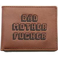 Officially Licenced BMF Men's Bi-fold Wallet Embroidered Brown Genuine Leather