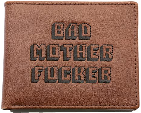 a2e732ed8 Amazon.com  Officially Licensed Men s Bad Mother Wallet Bi-fold ...