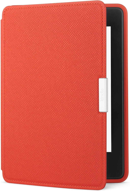 Amazon - Funda de cuero para Kindle Paperwhite, color rojo coral - no es compatible con la versión del 2018 (10.ª generación)