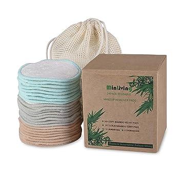 Amazon.com: MinLiving - 24 almohadillas de algodón orgánico ...