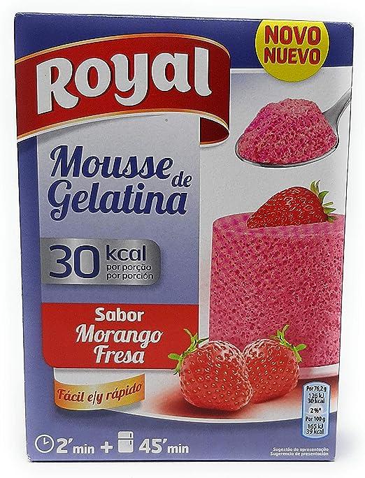 Royal Mousse de Gelatina - Sabor Fresa - 30 kcal por racion ...