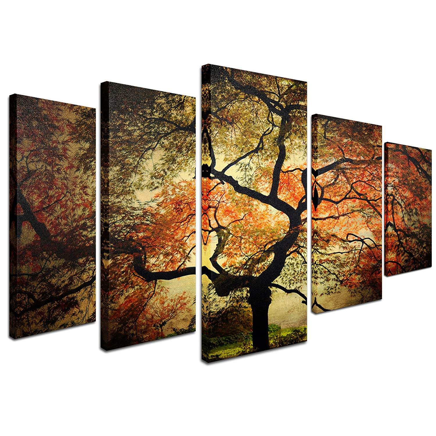 Amazon com trademark fine art japanese multi panel art set by philippe sainte laudy paintings
