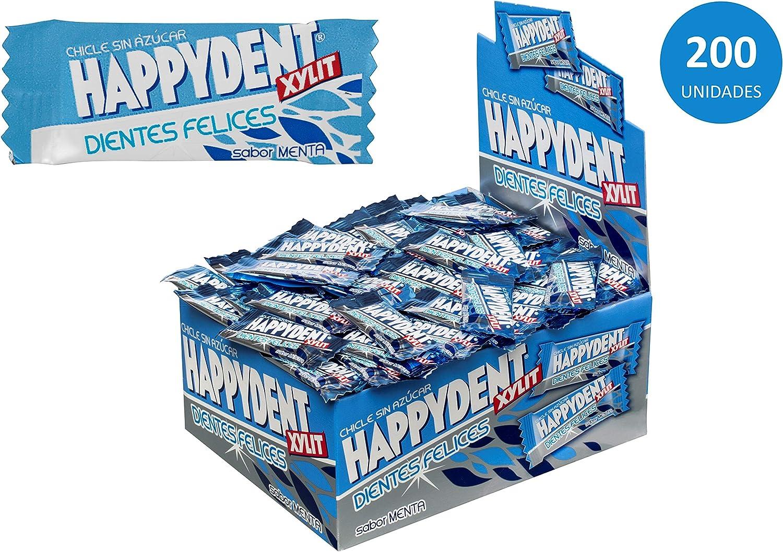 Happydent Menta, Chicle Sin Azúcar - 200 unidades: Amazon.es: Alimentación y bebidas