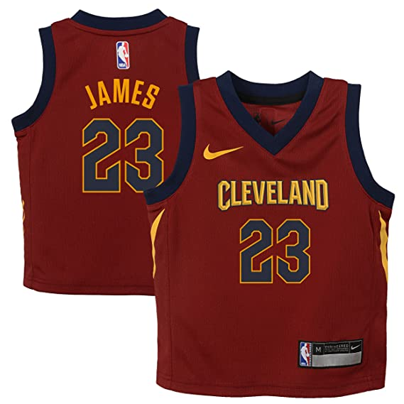 Nike NBA Cleveland Cavaliers Lebron James 23 2017 2018 Icon Edition Jersey Oficial Away, Camiseta de Niño: Amazon.es: Ropa y accesorios