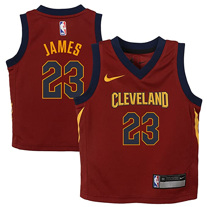 031ad31b49c58 Nike NBA Cleveland Cavaliers Lebron James 23 2017 2018 Icon Edition Jersey  Oficial Away