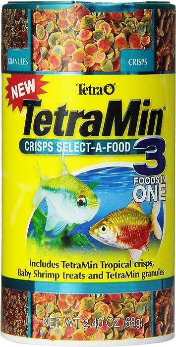 TetraMin Crisps Select-A-Food 2.4 Ounces, Fish Food, Variety Pack (77037)