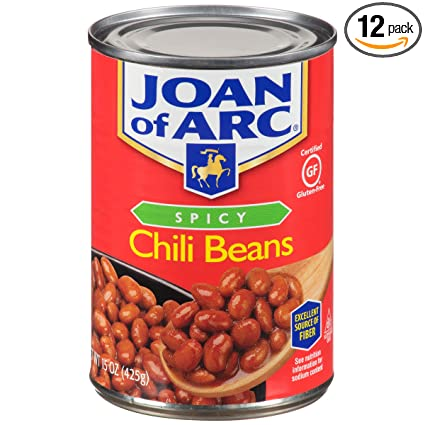 Amazon Com Joan Of Arc Beans Spicy Chili 15 Ounce Pack Of 12 Dried Kidney Beans Grocery Gourmet Food