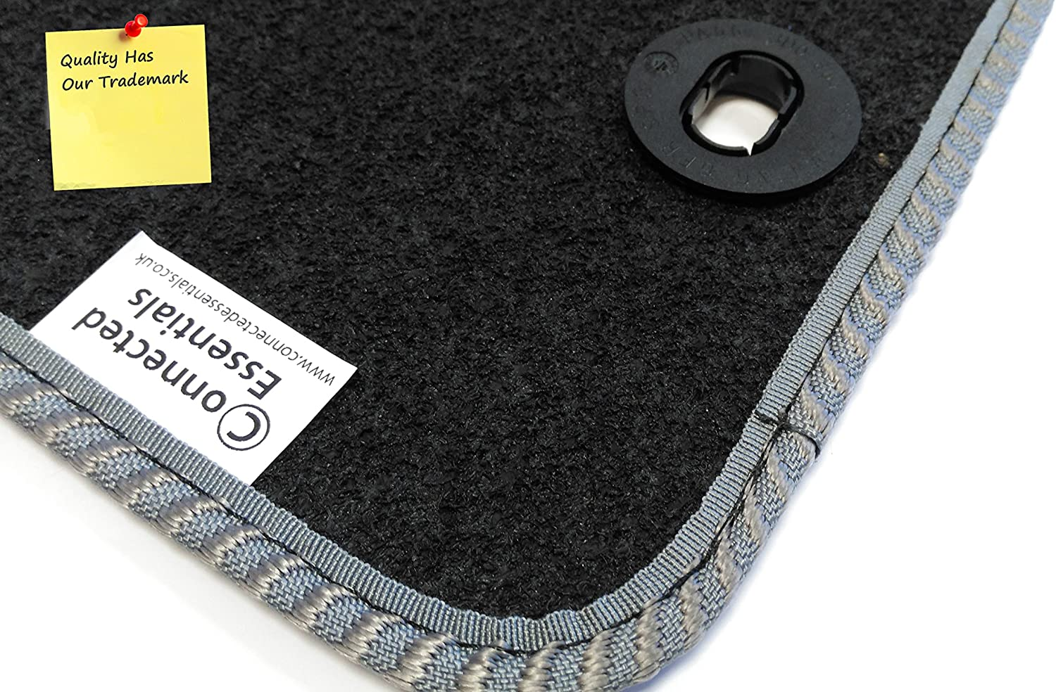 2005-2012 Black with Grey Trim Premium Bootmat Connected Essentials CEB650 3 Series Car Mat Set