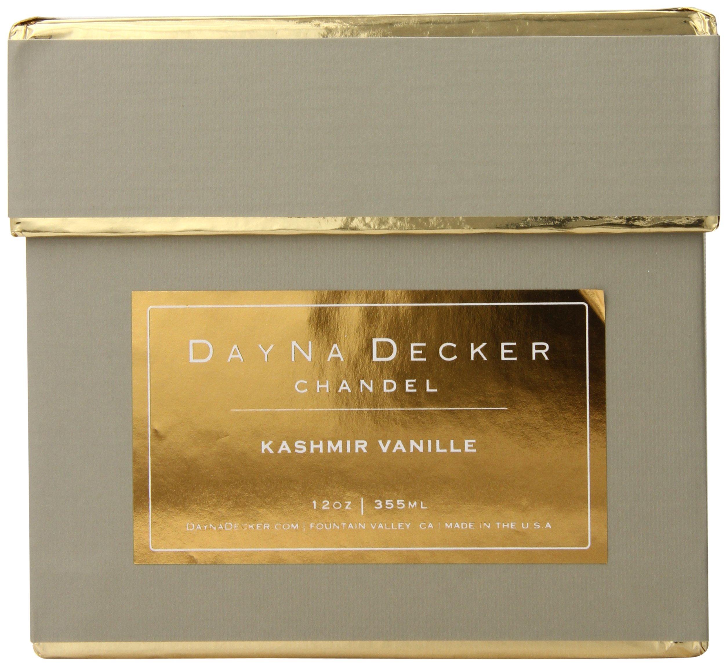 Dayna Decker Haute Atelier Chandel Scented Candles, Kashmir Vanille, 12 Ounce