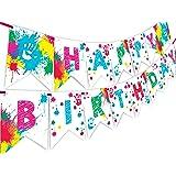 Art Party Happy Birthday Banner Pennant