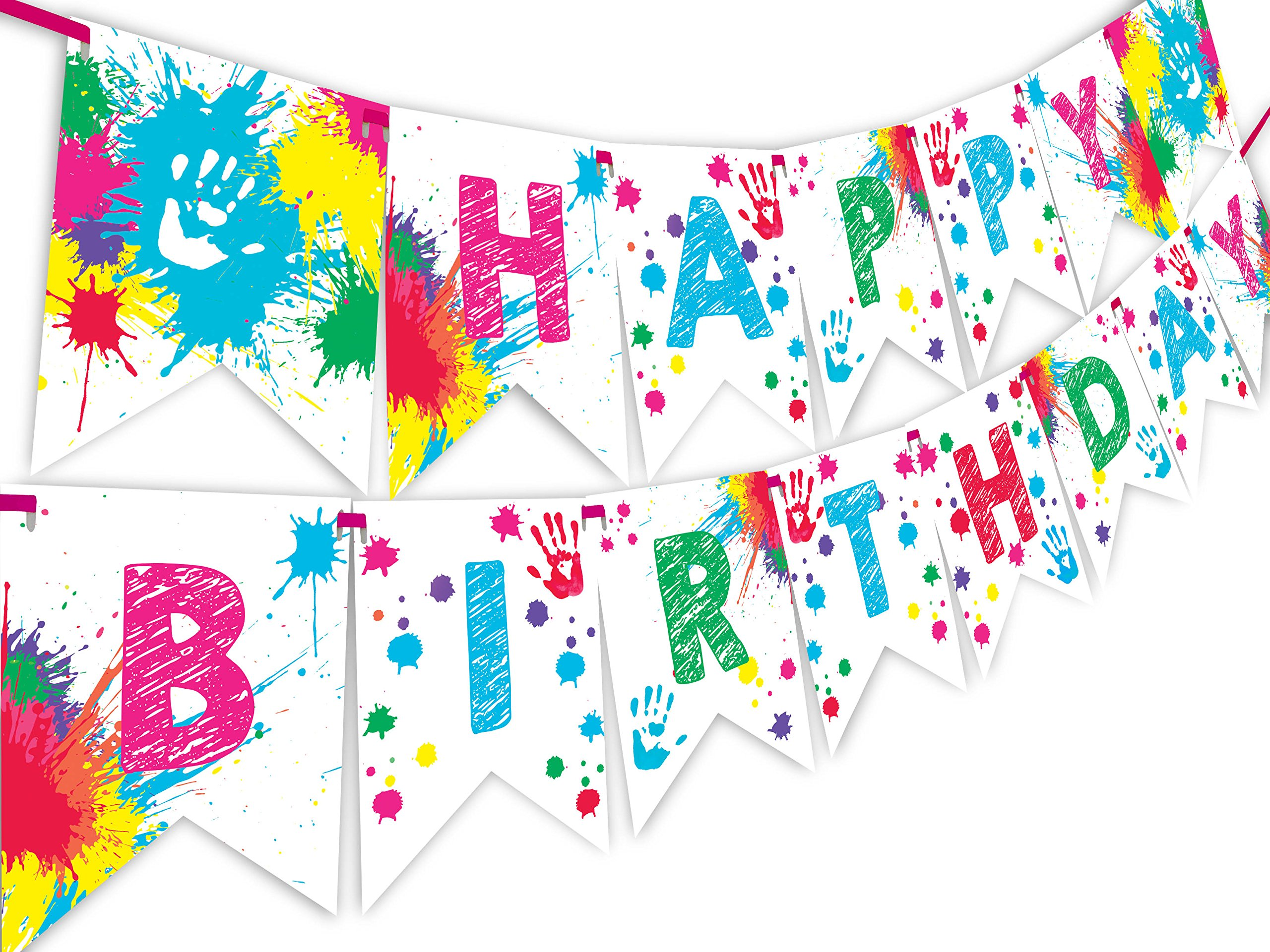 Art Party Happy Birthday Banner Pennant by POP parties