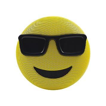 Jam HX-PEM02-EU Sunglasses Jamoji Bluetooth Lautsprecher mit Mikrofon gelb LJGSMWR7B