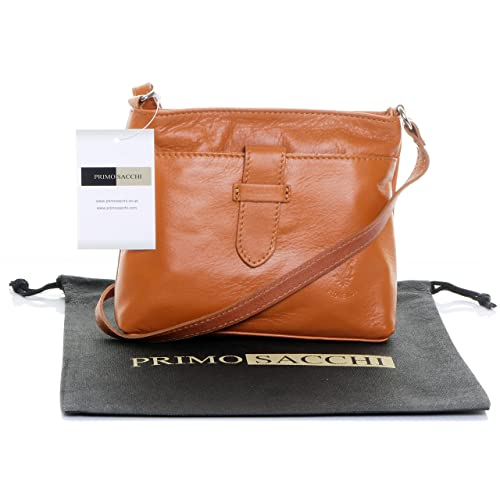 082973661dfd ... Crossbody Bag in Tan - Women Burberry  order c978c ed081 Primo Sacchi®  Italian Soft Leather Hand Made Small Strap Fronted Triple Compartment