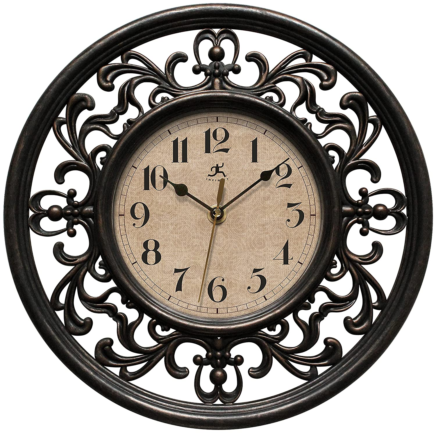 Infinity Instruments Sofia 12 inch Silent Sweep Wall Clock