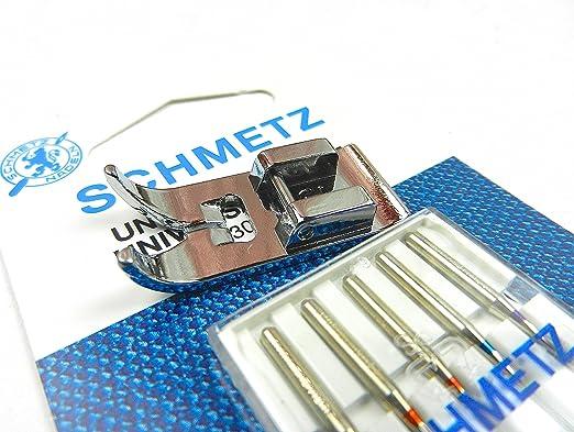 Zig Zag Máquina de coser Pie y 5 Schmetz agujas para el hogar ...