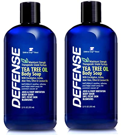 Defense Soap Body Wash Shower Gel 12 Oz Pack of 2 – Natural Tea Tree Oil